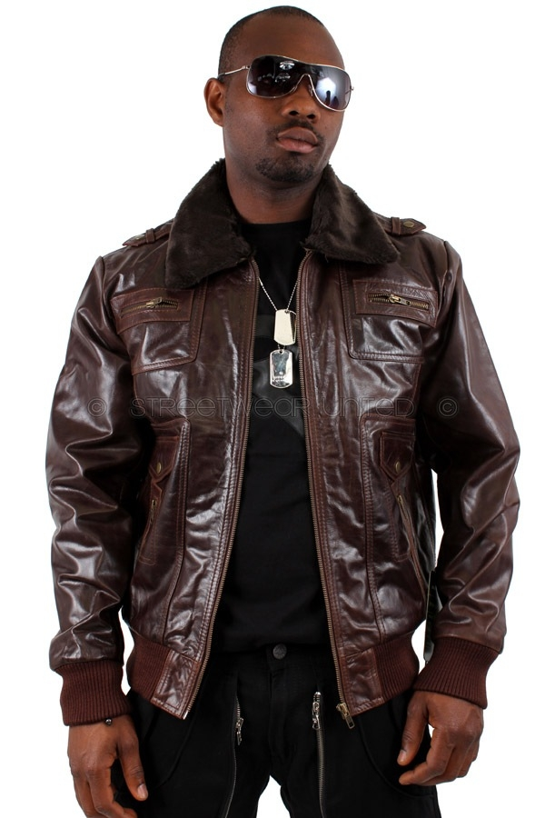 Brown Leather Jacket Or Black c0Xs03