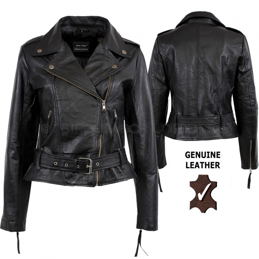 Aviatrix Genuine Leather Biker Style Chopper Jacket | STREETWEAR ...