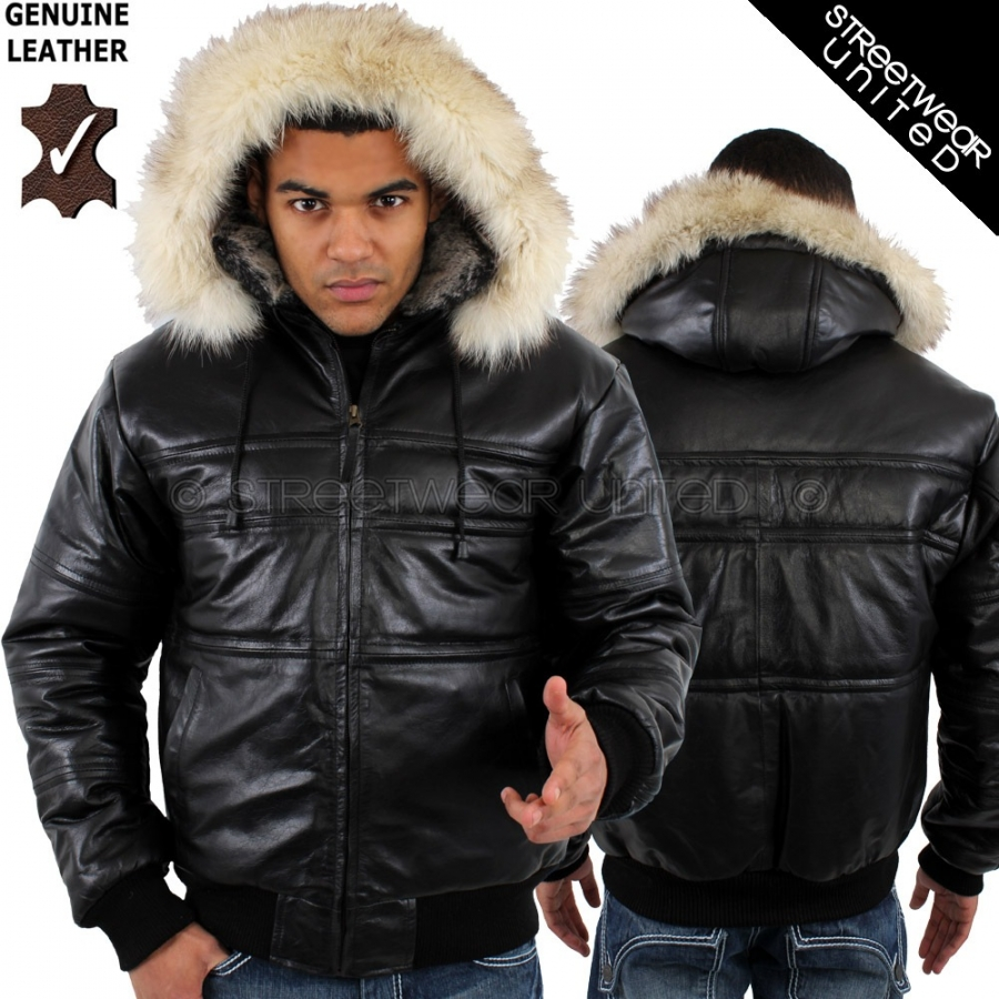 Find men's leather jacket with fur hood at ShopStyle. Shop the latest collection of men's leather jacket with fur hood from the most popular stores -.