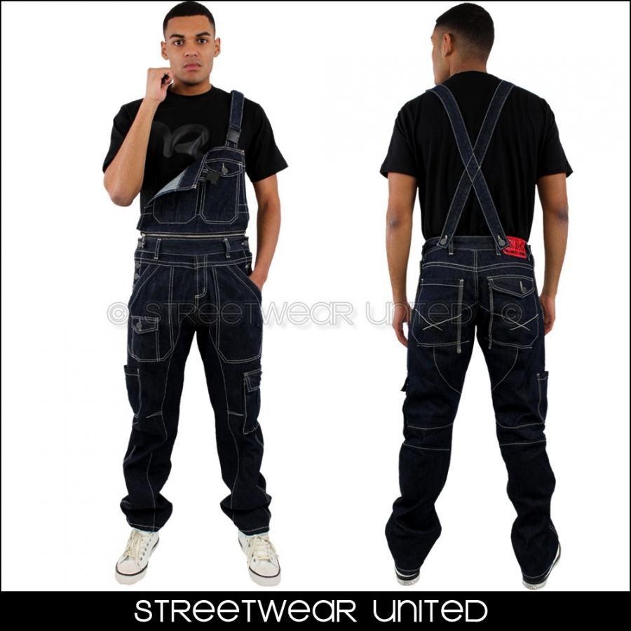 brooklyn mint detachable engineered one piece jumpsuit dungarees jeans streetwear united. Black Bedroom Furniture Sets. Home Design Ideas