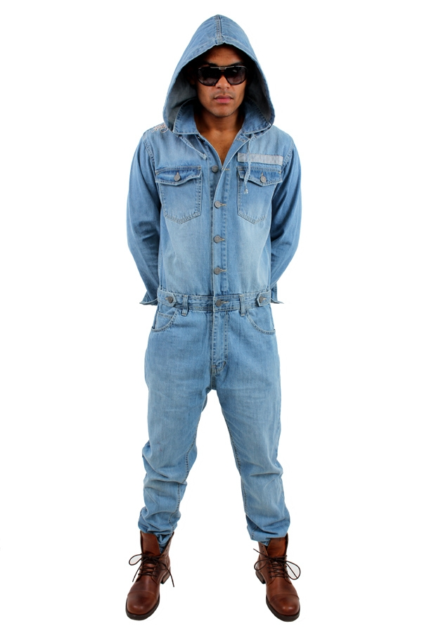 Mens Denim Jumpsuit - Breeze Clothing