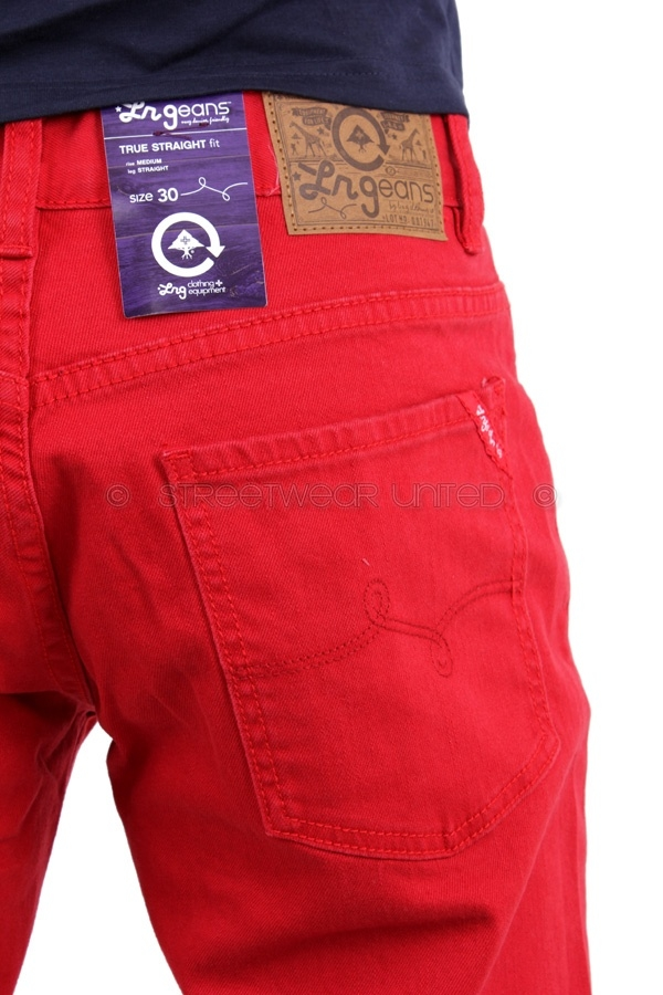 L R G Heartwood Ts Chino Lrg Trousers Jeans Red
