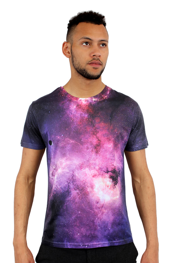 Monkey business galaxy 3d print fitted t shirt ebay for Fitted t shirt printing