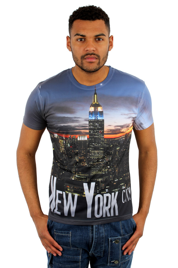 Monkey Business New York City NY 3D Print Fitted T-Shirt