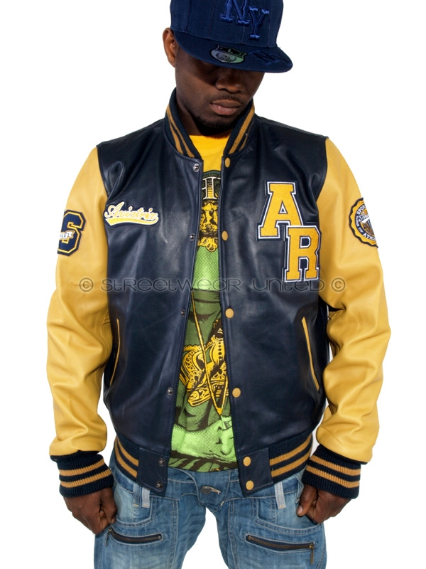 Aviatrix College Baseball Full Genuine Leather Jacket | STREETWEAR ...